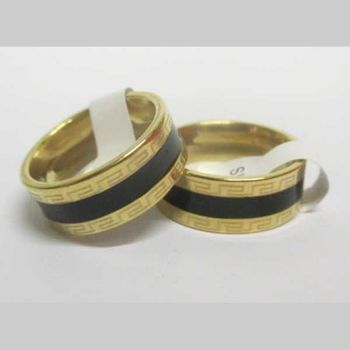golden ring steel man black line and labyrinth