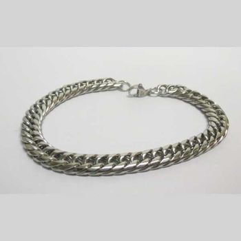 American chain link bracelet in steel