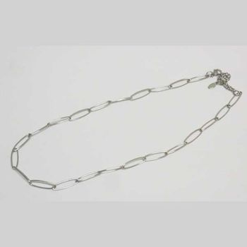 steel oval cable chain necklace