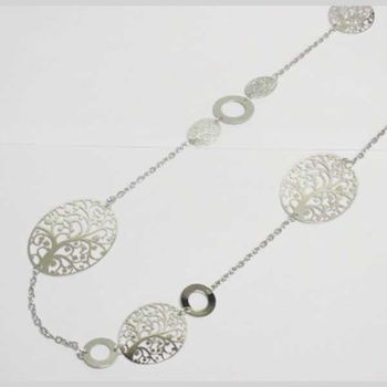 long tree of life filigree necklace
