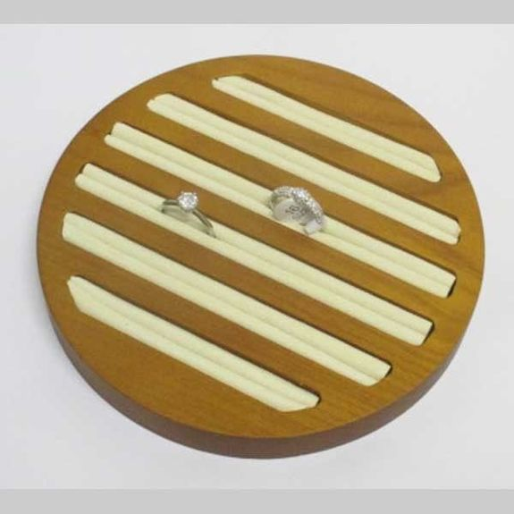 wooden circle tray for ring