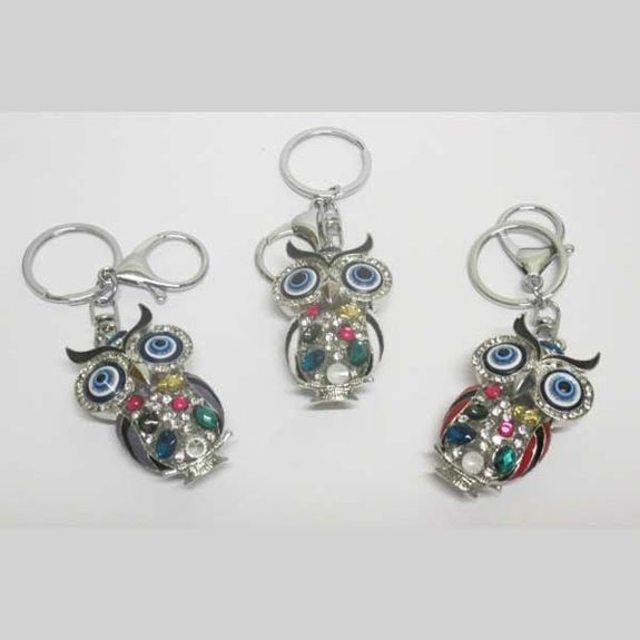 assorted owls bag jewelry