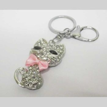 pink bow cat bag jewelry