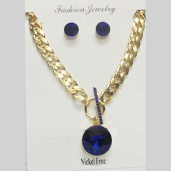 mesh jewelry chain woman with blue crystal