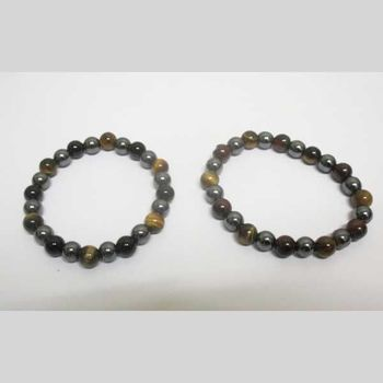 tiger eye bracelet and 3 eyes hematite