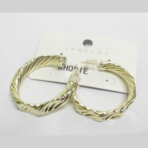 boucle d'oreille rhodie creole relief dore