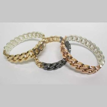 2-tone mesh bracelet available in 3 colors