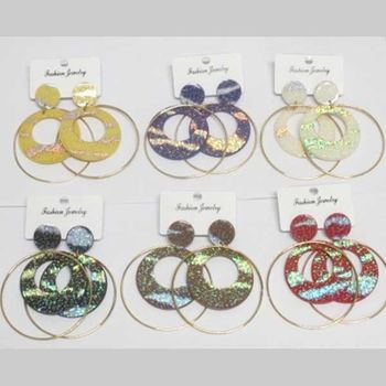 gilding hoop earrings with additional ring