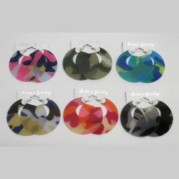 camouflage earring in all colors