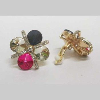 crystal clip earrings in all colors