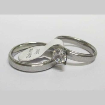 solitaire steel with ring