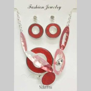 costume jewelry red enamel to envy others