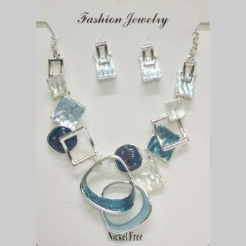 blue resin email necklace jewelry