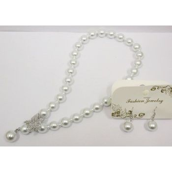 collier grosse perle blanche