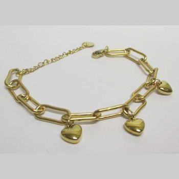 double chain infinity gold stainless steel bracelet