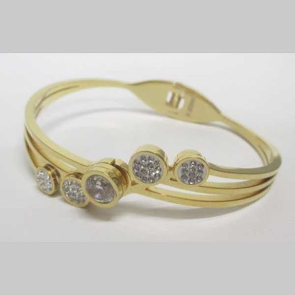 Cleopatra bangle golden stainless steel