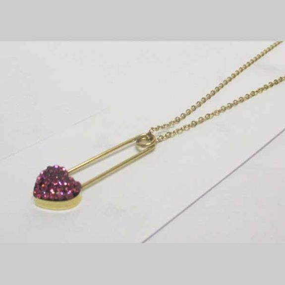 steel jewelry pendant safety clip golden heart