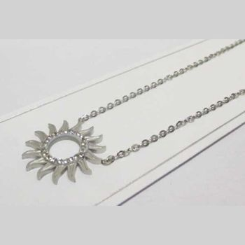 stainless steel sun necklace jewelry