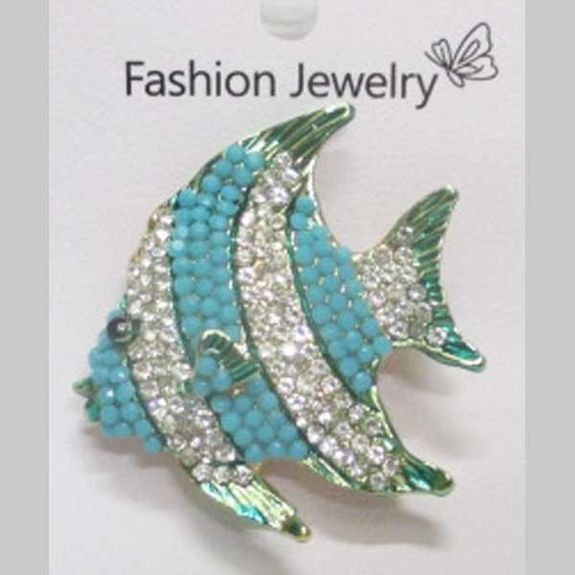 blue tropical fish brooch jewelry