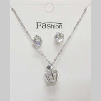 crystal crown necklace jewelry