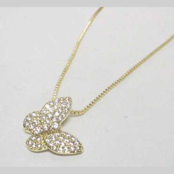 gold crystal butterfly chain jewelry