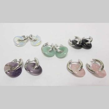 natural stone earrings for lithotherapy