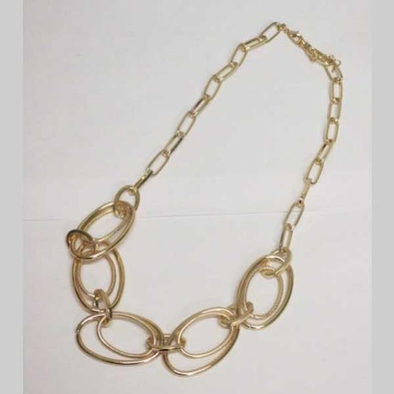 necklace 5 intertwined circles gold