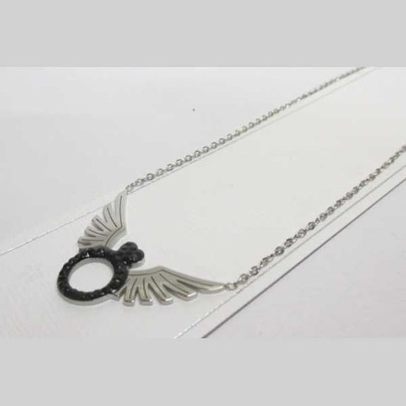 jewelry chain pendant ring wing steel