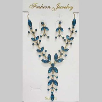 jewelry set turquoise crystal