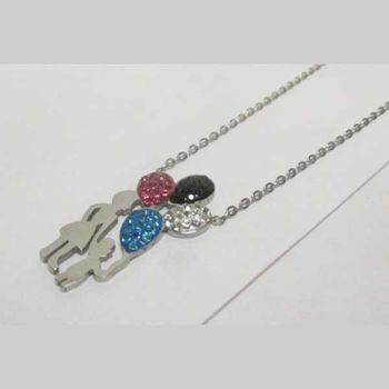 mother daughter balloon pendant jewelry
