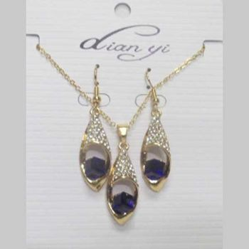 fancy blue crystal jewelry at wholesaler