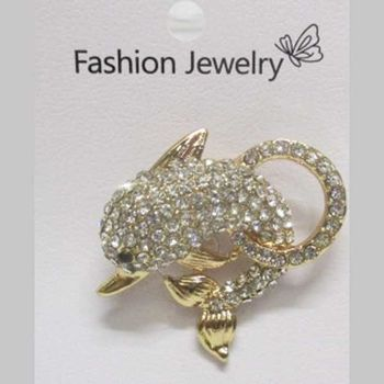 brooch jewelry show dolphin