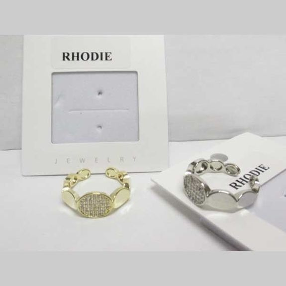 rhinestone plate ring in the middle