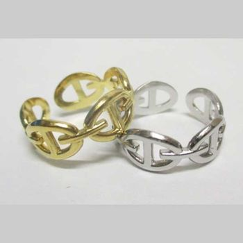 bague maille ancre