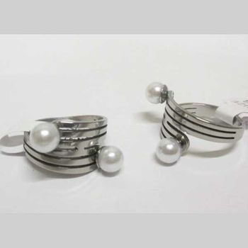 wrapped ring with 2 pearls