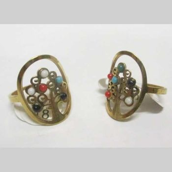 multicolored tree of life ring