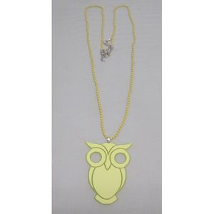 Women's colors owl Necklace