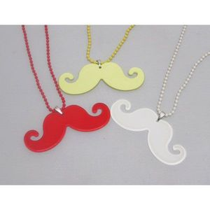 Women's colors moustach Necklace