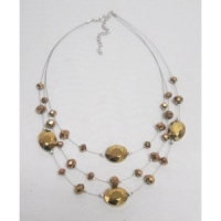Collier fantaisie suspension 3 rangs