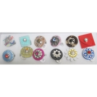 Bague à taille interchangeable Lot de 12