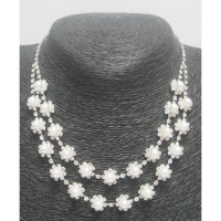 Collier bijoux suspension perle
