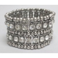 Bracelet strass 2 rangs