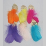 Lot of 6 Woman's Earrings plumes assorted