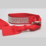 Ribbon Rhinestone bracelet red