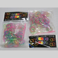 Loom band paillette  lot de 12 paquets