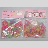 Loom bands fluorescents brille dans la nuit