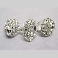 Bague strass fantaisie Lot de 6