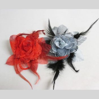 Woman's Hair Clip Brooch flower spangle Lot of 20Pcs
