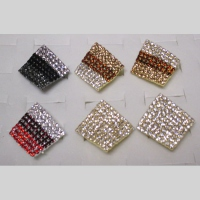 Bague reglable strass  femme Lot de 6