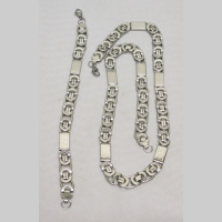 Men's set Steele Bracelet and Necklace